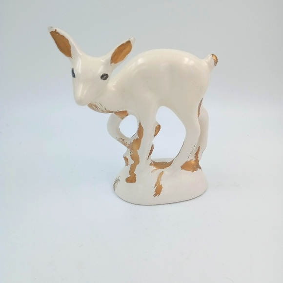 Vintage California pottery deer figurine
